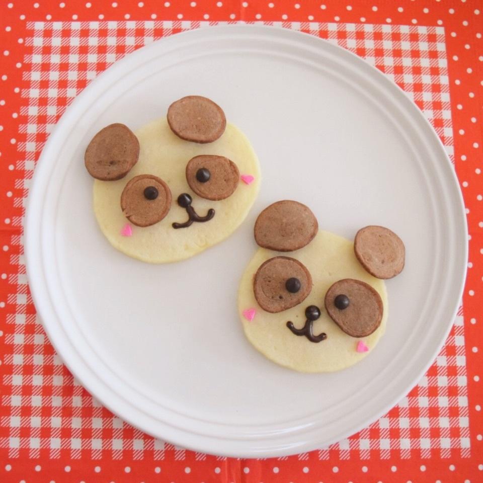 誰でも簡単♪パンダのパンケーキ。