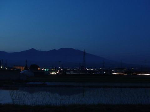 Top2018 06 07 今夕の逆さ浅間山