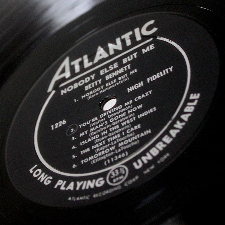 1645591fab63 ベティ・ベネットのこのアルバム「Atlantic」からリリースされた『ノーバディ・エルス・バット・ミー』を名作と呼ぶ!