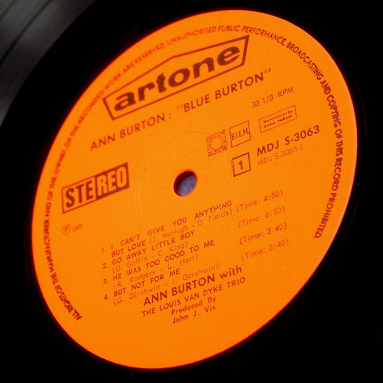 Ann Burton With The Louis Van Dyke Trio Ballads Burton