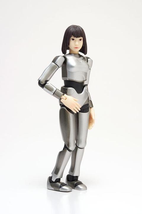 【プラモ】平均的な日本人女性を参考にして作られたロボが立体化「サイバネティックヒューマン HRP-4C 未夢」