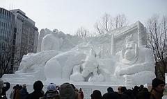 2010雪まつり 大雪像 北の動物園