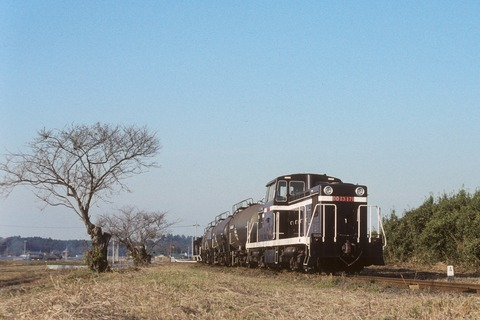冬枯れの鹿島鉄道