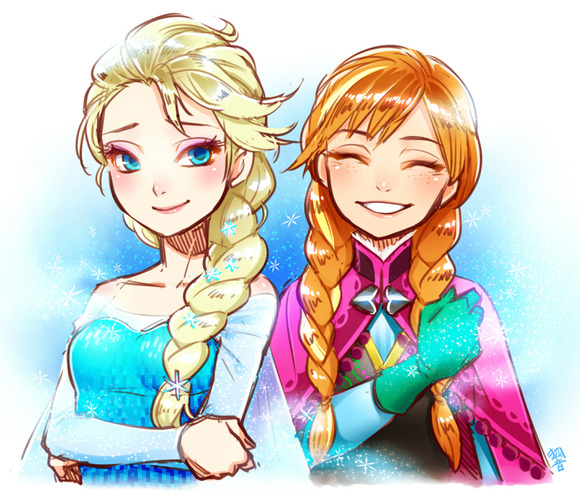 frozen_sisters_by_kohn_nz-d7bcjjh