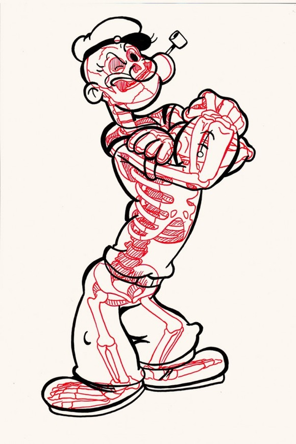 XRAY-Comic-Characters-Popeye-by-Chris-Panda-600x900