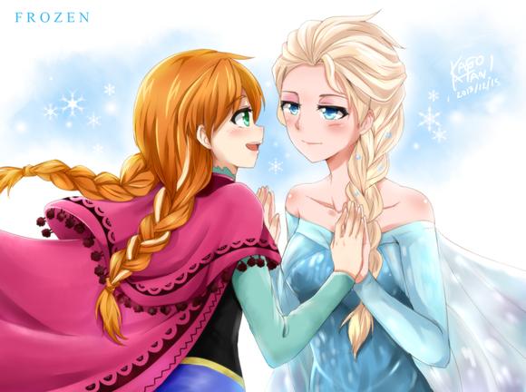 frozen___elsa_x_anna_by_kago_tan-d6z6az1