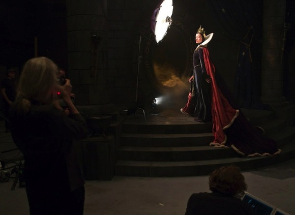 Olivia Wilde and Alec Baldwin as the Evil Queen and Magic
