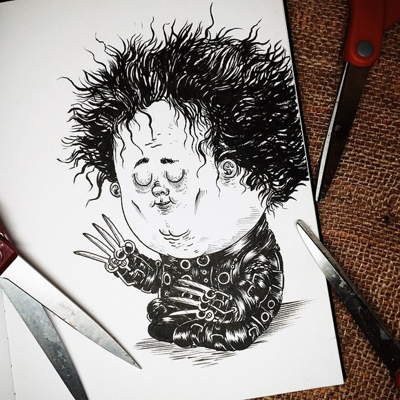Baby Edward Scissor Hands
