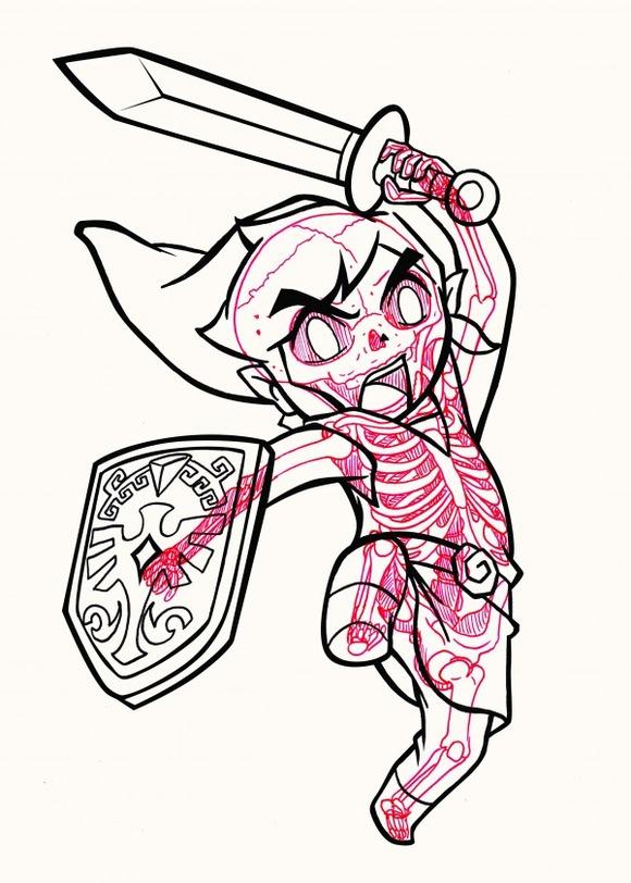 XRAY-Comic-Characters-Link-by-Chris-Panda-600x840
