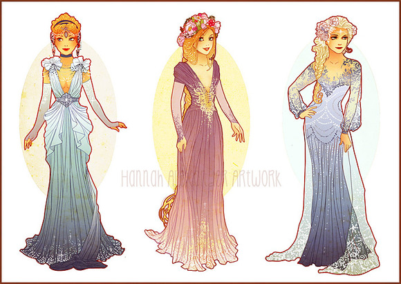 Cinderella, Rapunzel & Elsa
