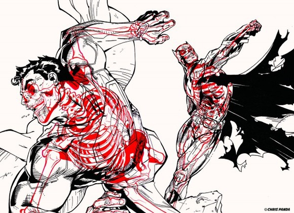 XRAY-Comic-Characters-Batman-vs-Superman-by-Chris-Panda-600x435