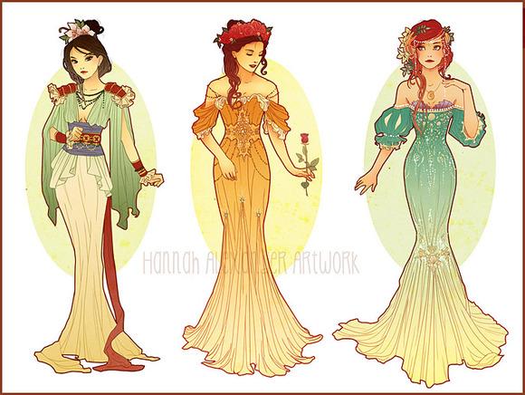 Mulan, Belle & Ariel