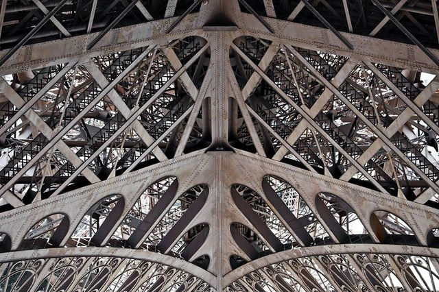 eiffel tower metal frame close up 9
