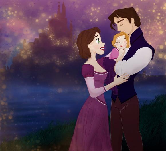 Rapunzel and Flynn