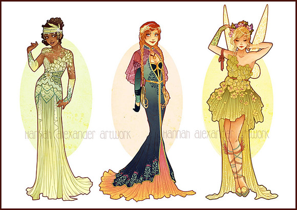 Tiana, Anna & Tinkerbell