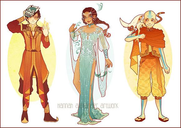 Zuko, Katara & Aang