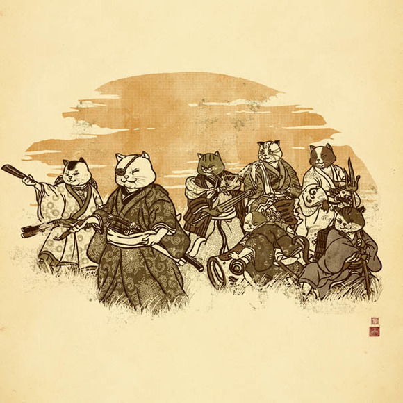 Seven Samurai Cat