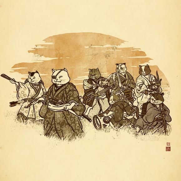 Seven Samurai Cat