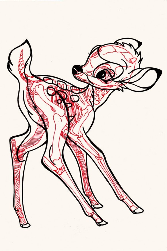 XRAY-Comic-Characters-Bambi-by-Chris-Panda-600x900