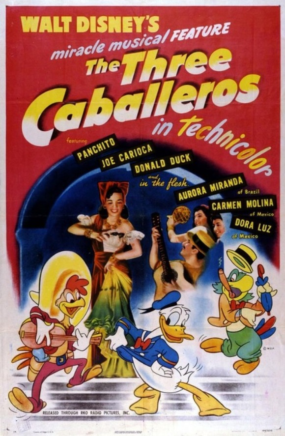 1945-The-Three-Caballeros-Poster-523x800