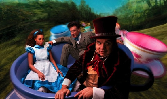 Beyonce, Oliver Platt, and Lyle Lovett as Alice in Wonderland