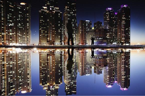 reflectionsouthkoreabusanhaeundaegudongbaekseomisland