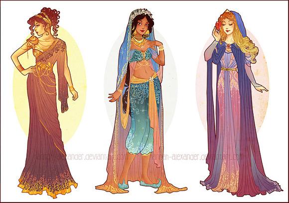 Megara, Jasmine & Aurora