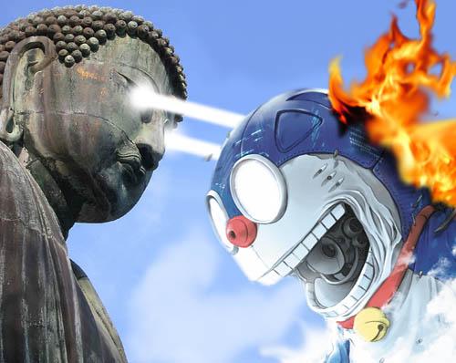 Buddhakaizer_vs_Doraemon