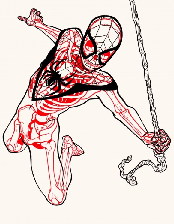 XRAY-Comic-Characters-Spiderman-by-Chris-Panda-600x772