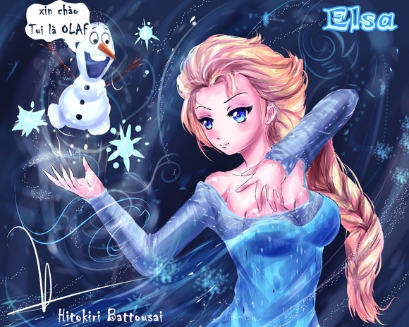 elsa_and_olaf_by_aiolia1989-d6zj78p