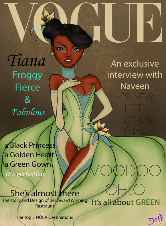 vogue_disney_darlings___tiana_by_dantetyler-d4qyb7v