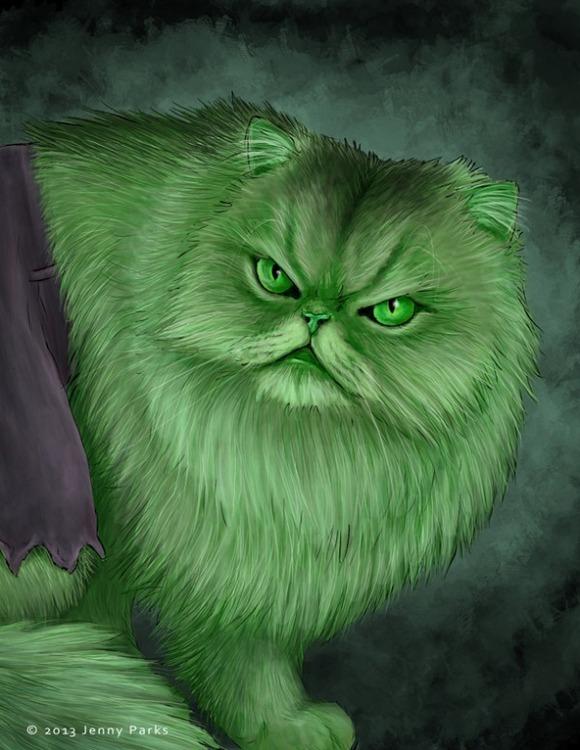 hulk-superhero-cats-jenny-parks-600x776