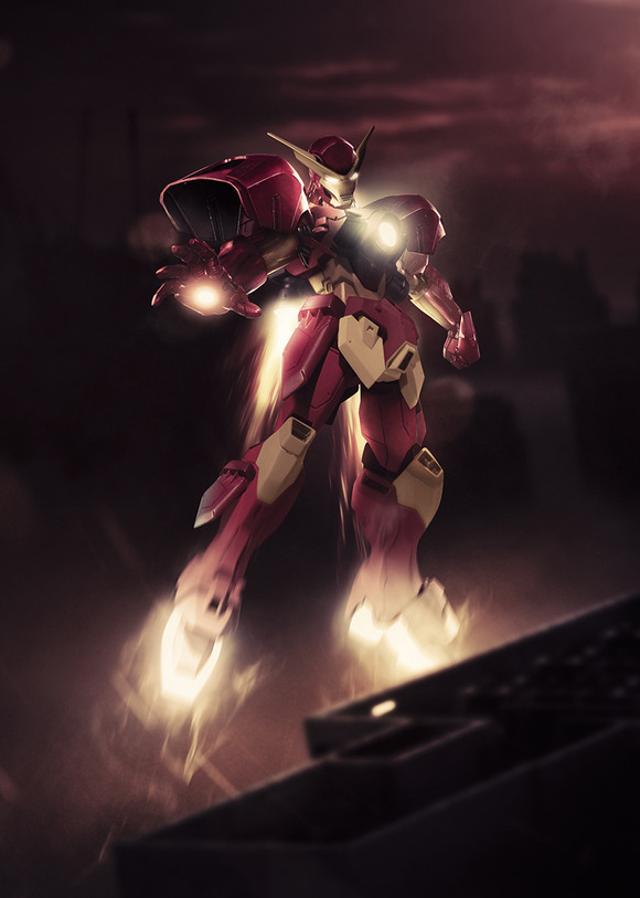 iron_man_x_gundam_by_bosslogic-d5ndtk9
