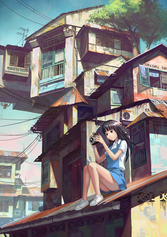 girl_with_camera_on_rooftop_by_dsngiap-d4plcf0