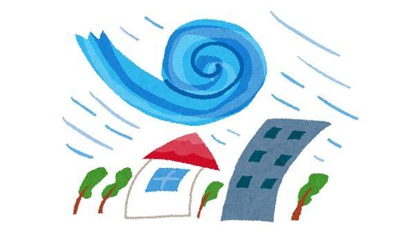 台風21号で色んなものが吹っ飛ぶ
