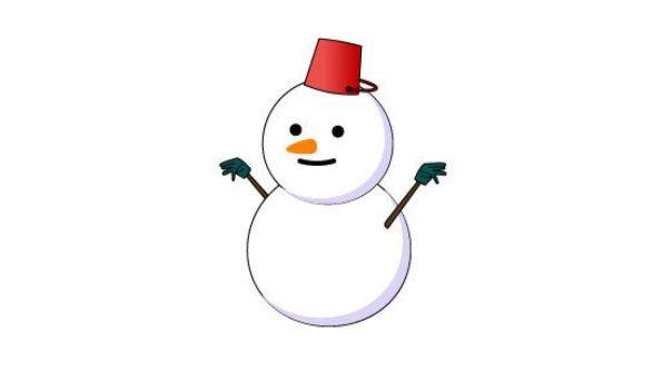 斬新な雪だるまが発見される