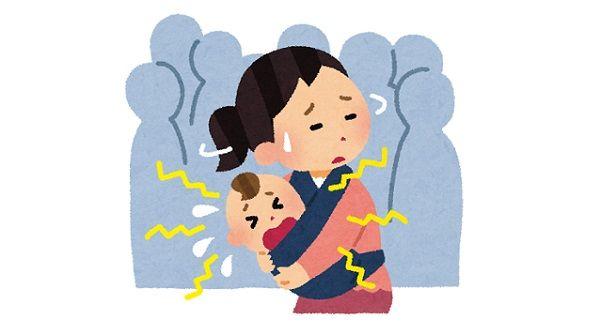 電車内で泣き止まない赤ちゃんを抱えた母親を怒鳴りつける男性が目撃される