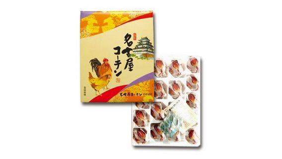 「名古屋コーチン饅頭」の包み紙を開けたら中から見覚えのあるお菓子が出現する