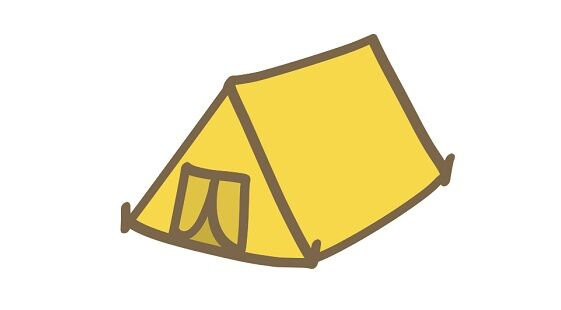 キャンプ場でテントを張って寝ていたら足元に重さを感じる→カメラで撮ったら恐ろしいモノが写る