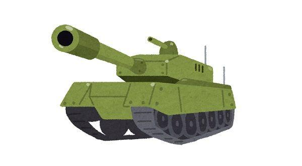 戦車がトップスピードで普通の車にぶつかるとこうなるらしい