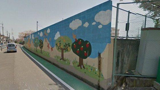 高槻市にある小学校のブロック塀がヤバすぎる