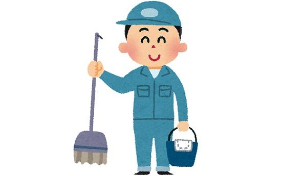 ツイ「渋谷のビルに未だに清掃員が多い。僕だったら絶対に清掃員の仕事はしない」