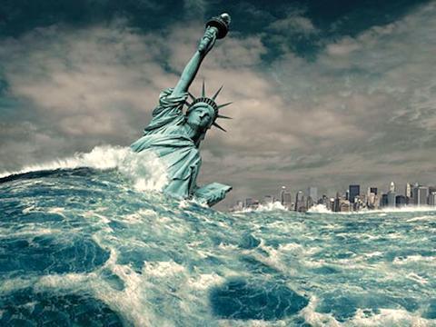【悲報】海面上昇でアメリカNYの高層ビル群が水没の危機。← 東京都の大半も水没しちゃうよね