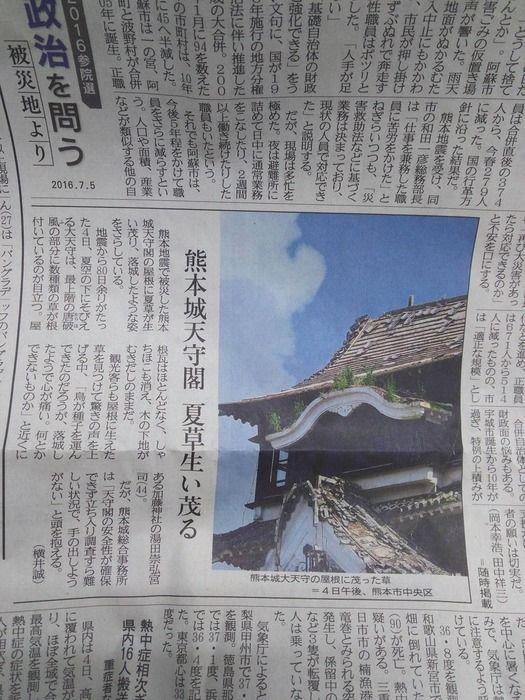【悲報】熊本城の天守閣に草が生えるwwwwwwwwwwwwww