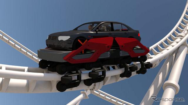 【ドイツ】車に乗ったまま楽しめるテーマパーク、特許出願…ジェットコースターも車ごと!