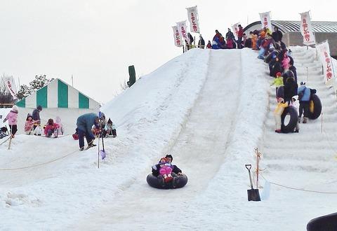 雪しか祭り巨大滑り台1