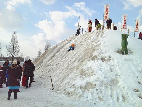 雪しか祭り巨大滑り台3
