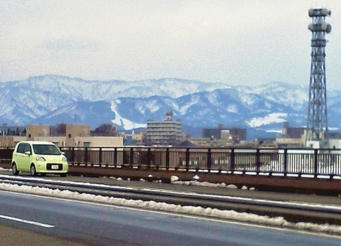 長岡市営スキー場遠景2月