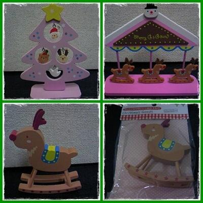 ダイソーの木製クリスマス雑貨