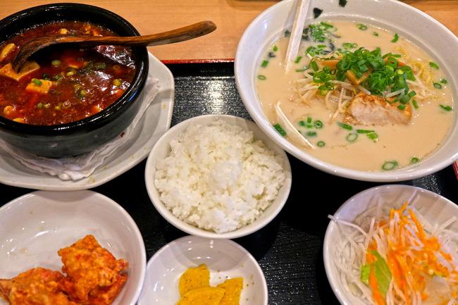 12麻婆豆腐と豚骨ラーメンセットIMG_4898